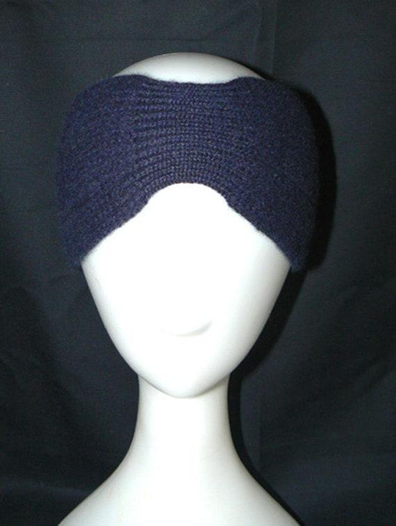bb0dd3498df Elecated headband Coco in dark blue in merino wool with