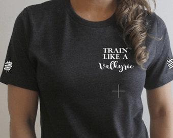 Train like a Valkyrie tee, A Court of Silver Flames, ACOTAR, Bookish tee, Book shirt, Valkyrie, Nesta, Maas