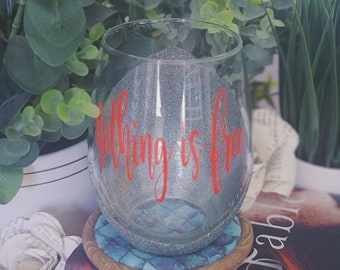 Fable Namesake wine glass, adrienne young, Bookish Merch, Nothing is free