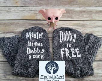 The Original: Master has given Dobby a sock, dobby is free, Dobby socks, reader gift, bookworm, bookish, bookstagram, book lover, Literary