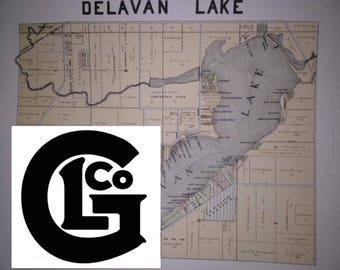 Lake Delavan Plot map