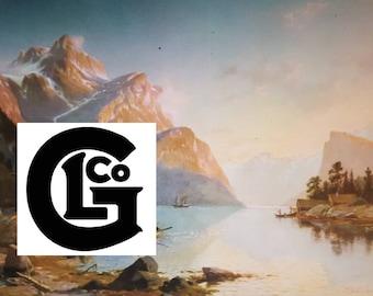 """GP10447 """"Lingering Nordic Sunset"""" By J.Duntre 1875"""
