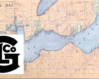 1920s Lake Geneva Plot Map