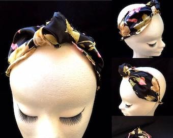 Silk scarf headband