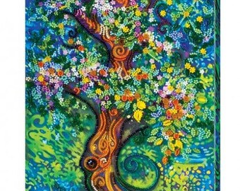Magic Tree DIY Bead Embroidery Picture Kit Housewarming Gift Idea Wall Artwork Beadwork