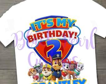 Paw Patrol 2nd Birthday Shirt