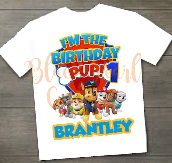 Paw Patrol 1st Birthday Shirt