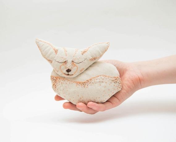 Fennec Fox Toy Fox Plush The Little Fox Fox Stuffed Animal Etsy