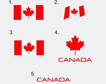 Canada Flag Decals - Canada Decals - Canadian Flag - Various Designs