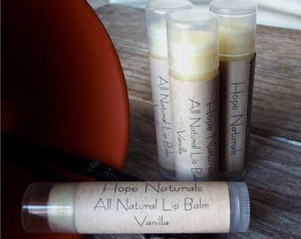4-Pack All Natural Vanilla Lip Balm