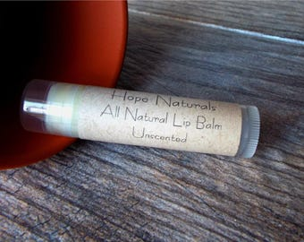 All Natural Unscented Lip Balm