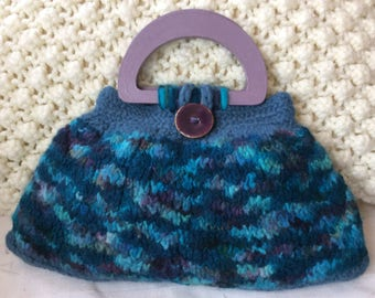 Hand knitted and felted bag