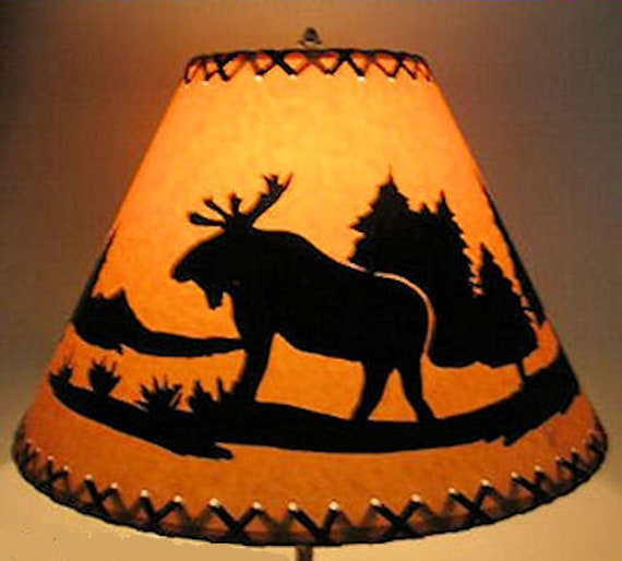 Moose Scenic Lamp Shade Sizes Listed By Base Diameter