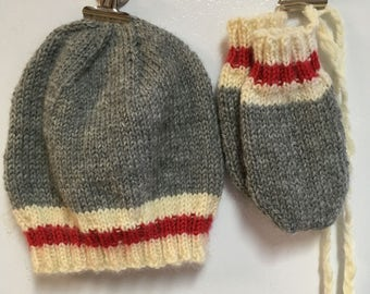 Hat and mittens (without ppuce), 9 months