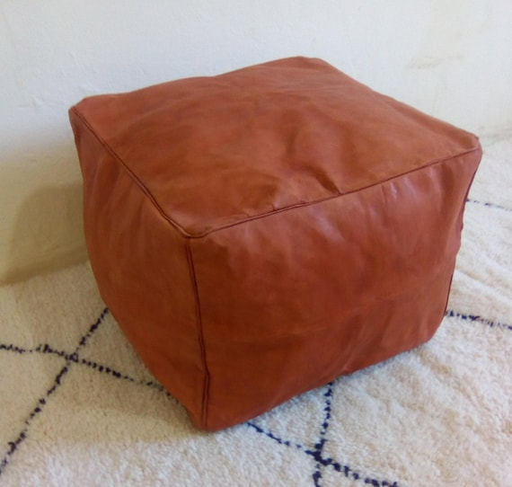 Strange 40 Off Authentic Moroccan Pouf Leather Pouf Ottoman Pouf Footstool Leather Ottoman Pouffe Express Shipping Lamtechconsult Wood Chair Design Ideas Lamtechconsultcom