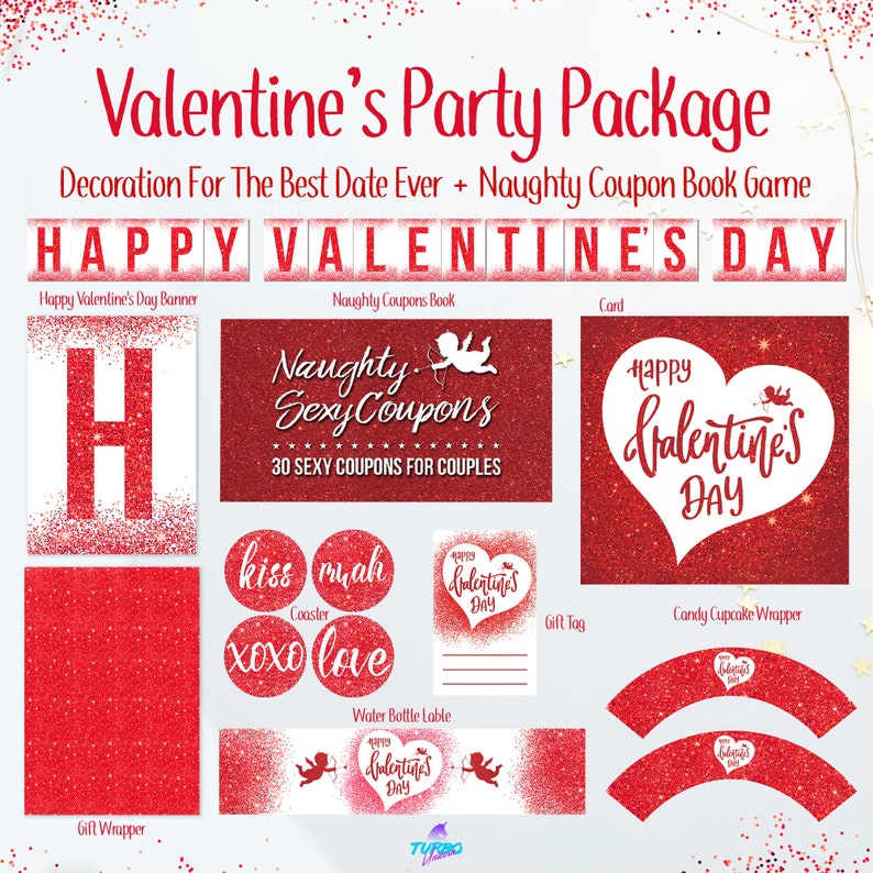 graphic relating to Happy Valentines Day Banner Printable named Valentines Working day Bash Printables, naughty discount codes, discount coupons, printable valentines working day playing cards, valentines get pleasure from, valentines reward