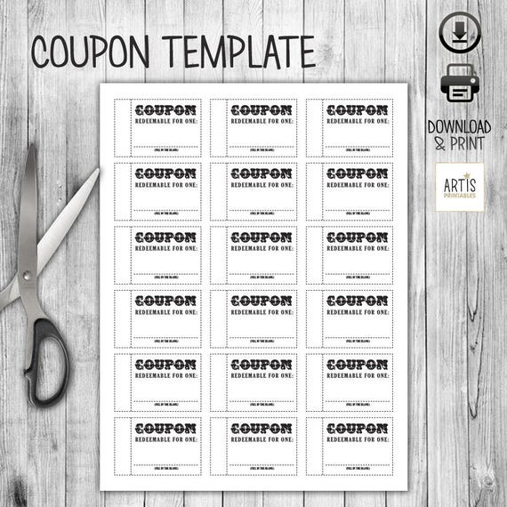 Coupon Book Coupon For Game Empty Love Coupon Date Diy Etsy