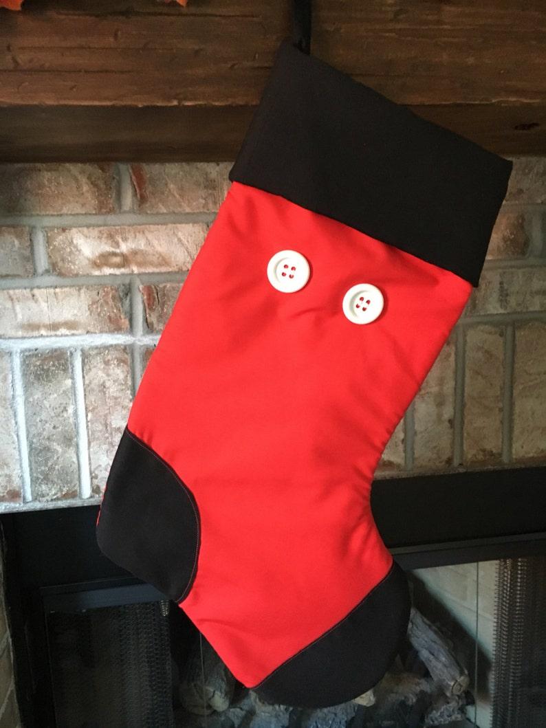 Disney Inspired Mickey Mouse Christmas Stocking Handmade Custom