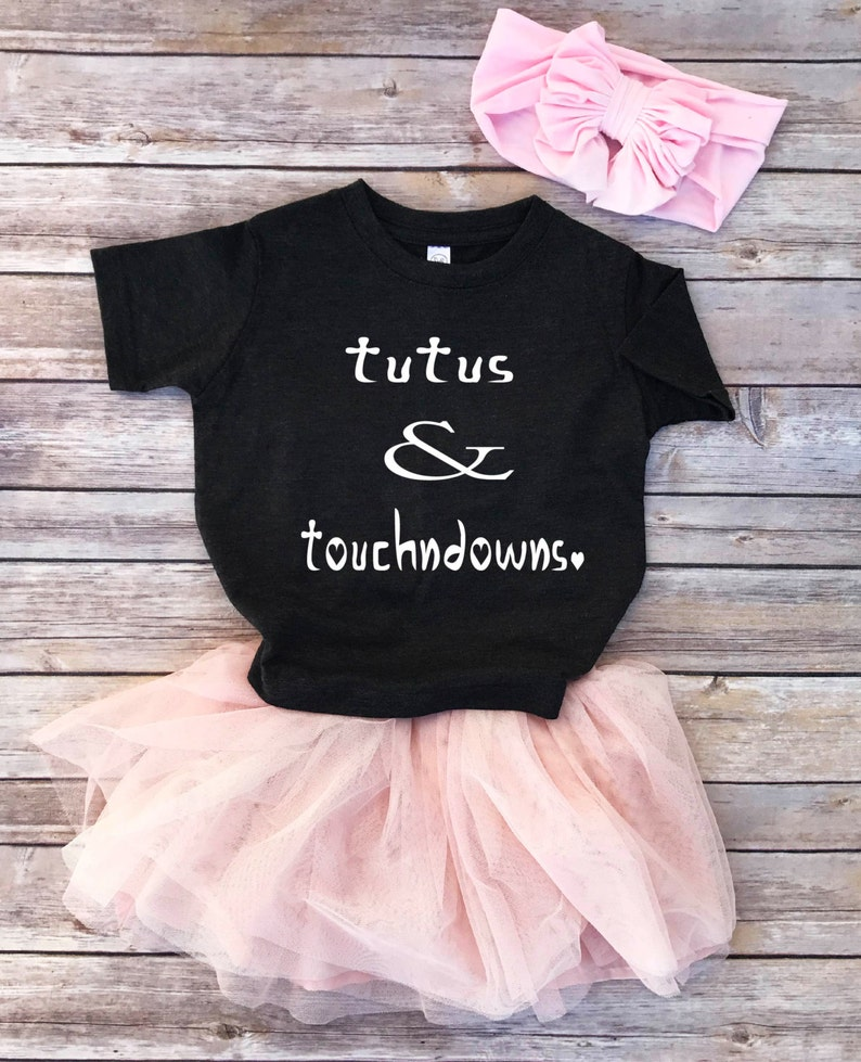86af86e71 Tutus and touchdowns toddler girl shirt girl football shirt | Etsy