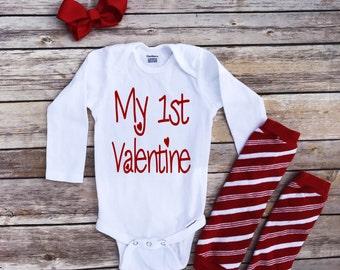 My 1st Valentine, new baby, first Valentine onesie, 1st Valentines day, baby girl onesie, baby shower gift, Valentine onesie, cute clothes