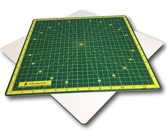 """Self-Healing 14-Inch-by-14-Inch 360 degree Rotating Quilting Cutting Mat (13"""" grid)"""