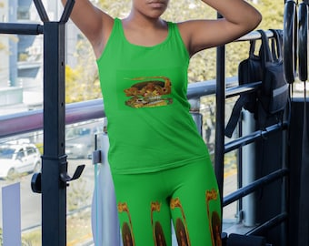 La Dominadora Santa Marta Leggings   Printed Leggings   Women Clothing   Gifts for Her   Self Gift   Goddess   Women's Clothing