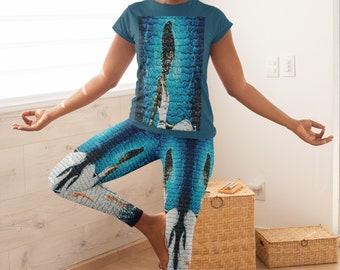 Yemaya Leggings   Leggings   Printed Leggings   Women Clothing   Gifts for Her   Self Gift   Goddess   Birthday Gifts   Women's Clothing