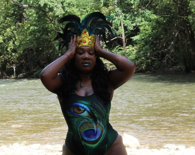 Featured listing image: Oshun Swimsuit|  Oshun  | Bathing Suit | Beachwear | Women Clothing | Orisha Oshun | Goddess | Goddess Oshun | Gifts for Her | Self Gift