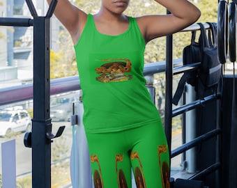 La Dominadora Santa Marta Leggings | Printed Leggings | Women Clothing | Gifts for Her | Self Gift | Goddess | Women's Clothing