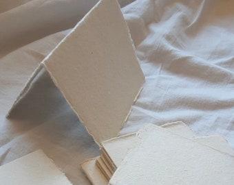 2.5 x 3.5 Buffet Cards, Escort Card, Place Cards, Mini Tent Card, Deckle edge card, Handmade Paper