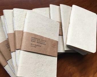 Bulk handmade paper notebooks, Blank notebook, Bulk notebook, Blank journal, Hand stitched journal, Handmade paper, Pocket Sized, Refill