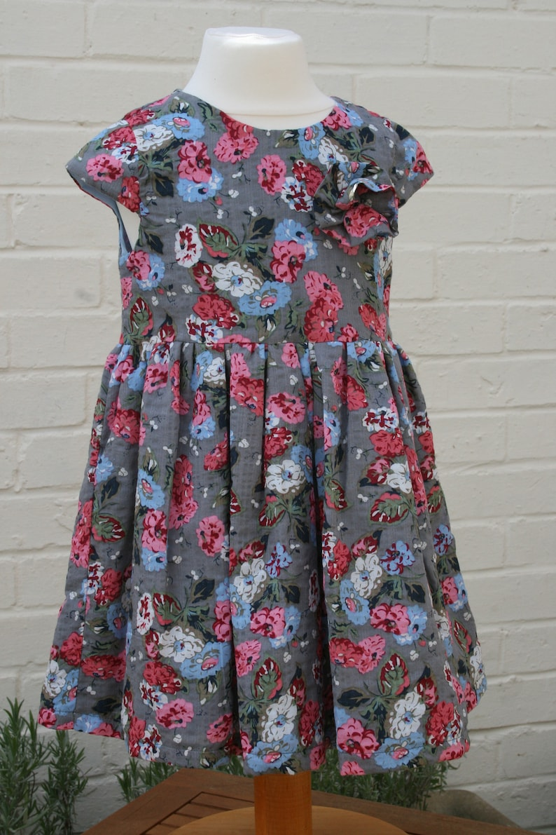 a9507cd5d Floral Party Dress Special occasion dress blue and pink