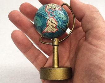 Rare world globe etsy rare globe pencil sharpener circa 1930 made in germany vintage world globe gumiabroncs Gallery