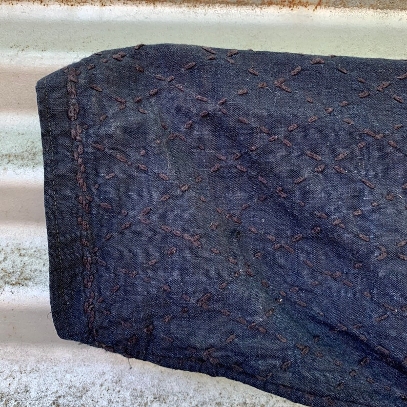 Medium Kendo Jacket with Sashiko Stitching  Indigo Japanese Aikido Jacket