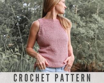 CROCHET PATTERN - Modern Crochet Top for Women