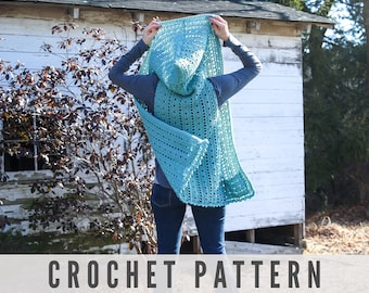 Crochet Hooded Vest Pattern - Easy Beginner crochet pattern