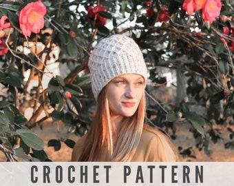 Crochet Pattern Diamond Stitch Beanie Hat