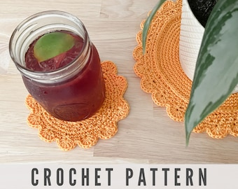 Crochet Coaster Pattern for Drinks and Plants