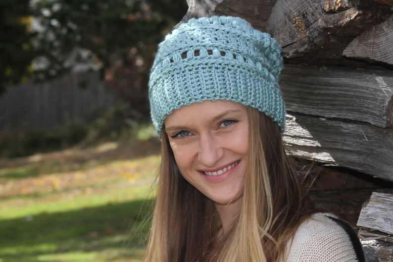 Crochet Pattern / The Stacy Beanie / Crochet Hat / DIY Hat / image 0