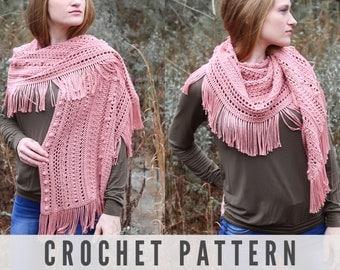 CROCHET PATTERN - Modern and Beautiful Crochet Shawl Pattern