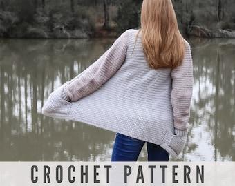 Crochet Pattern - Cozy Cardigan with Pockets
