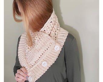 The Stacy Cowl PATTERN / Crochet Pattern / Crochet Tutorial / Cozy Cowl / Crochet Cowl / DIY Crochet