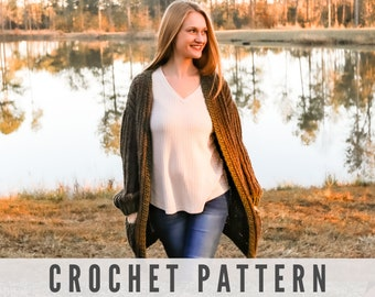 Crochet Pattern - Sophia Cardigan with Pockets