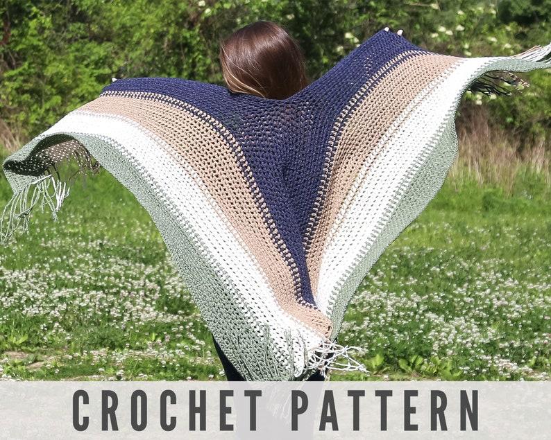 Crochet Pattern / Crochet Wrap / Crochet Ruana / Crochet image 0