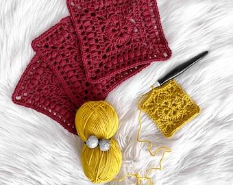 Crochet Pattern for a Modern Granny Square