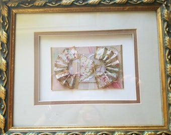 A Pair of Beautiful Paper Art Work - double matted and framed