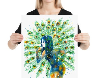 Peacock, Girl Power, Women Power, She Persisted, Inspirational poster Quote wall art Quote poster Wall art print Feminism