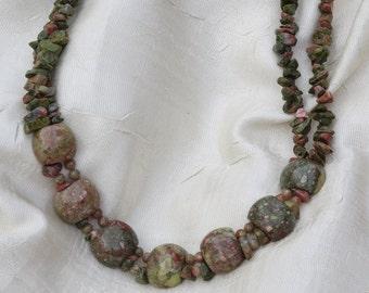 Jasper Beaded Necklace