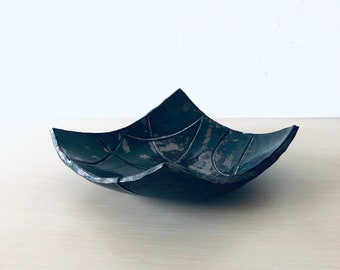 Unique gorgeous bowl, ceramic bowl, handmade, swedish, bronze