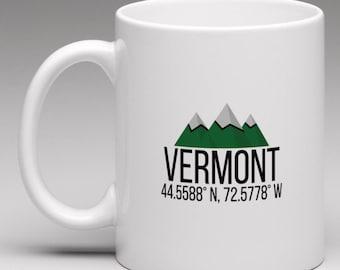 Vermont coordinates mug